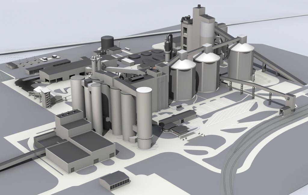 Übersicht Industrieanlage